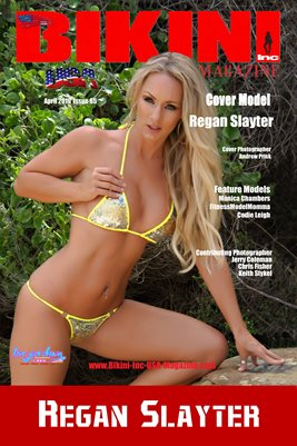 BIKINI INC USA MAGAZINE COVER POSTER - Cover Model Regan Slayter - April 2019