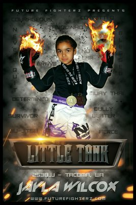 Jayla Wilcox Flames Poster