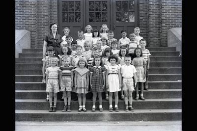 May 10, 1951 Kindergarten, Longfellow School, Mayfield, Graves County, Kentucky