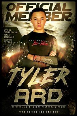 Tyler Ard Gold Diploma Poster