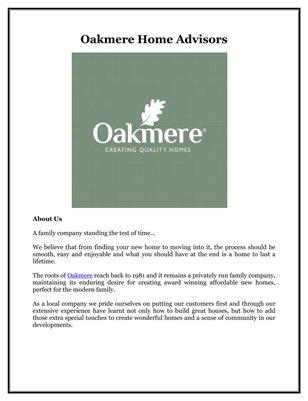 Oakmere Home Advisors