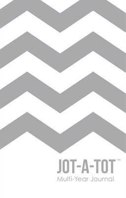 Jot-A-Tot Multi-Year Journal in Gray Chevron