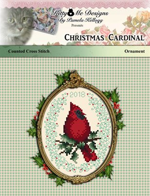 Christmas Cardinal Cross Stitch Ornament
