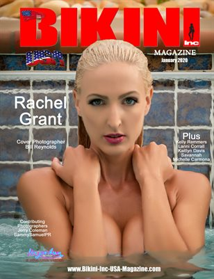 BIKINI INC USA MAGAZINE - Cover Model Rachel Grant - January 2020