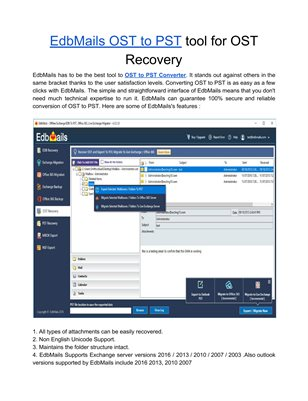 EdbMails OST to PST tool for OST Recovery