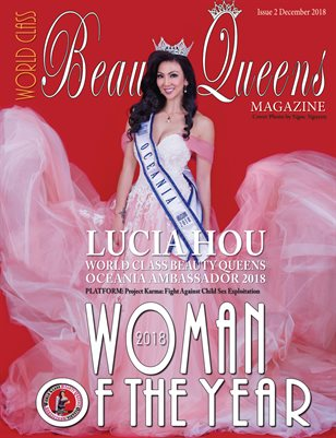 World Class Beauty Queens Issue 2 2018 Woman of the Year Lucia Hou