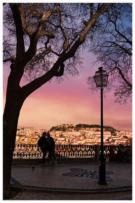 Poster - Lisbon old City View