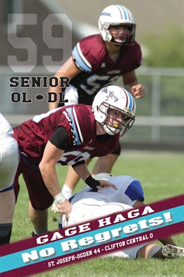 Gage Haga Clifton Central Game Day Print