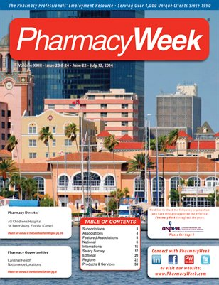 Pharmacy Week, Volume XXIII - Issue 23 & 24 - June 22 - July 12, 2014
