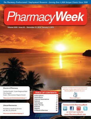 Pharmacy Week, Volume XXIII - Issue 45 - December 21, 2014 - January 3, 2015