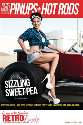 Pinups + Hotrods Volume 5 – Sizzling Sweet Pea Cover Poster