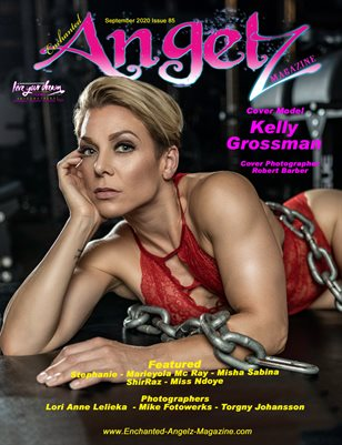 ENCHANTED ANGELZ MAGAZINE - Cover Model Kelly Grossman - September 2020