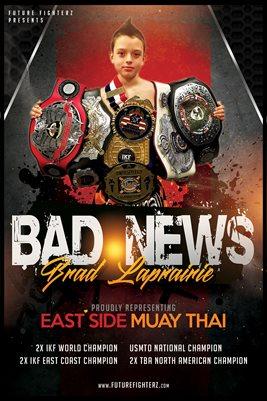 Brad LaPrairie Thai Champion Poster