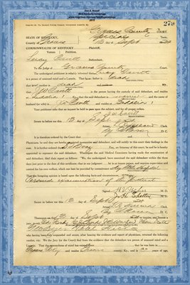 1924 State of Kentucky vs. Lucy Cavitt, Graves County, Kentucky
