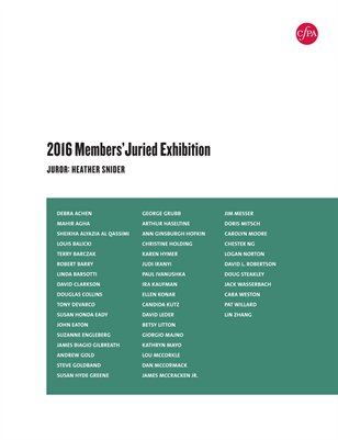 2016 Members' Juried Exhibition