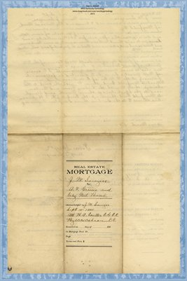 1900 Mortgage, Sawyer to Greene & City National Bank, Graves County, Kentucky