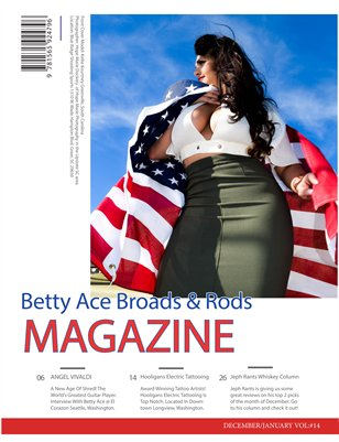 Betty Ace Broads & Rods Magazine Holiday Edition December Vol:#14