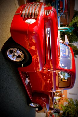 Poster: Classic Red Ford Pick up