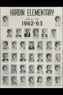 1962-63 HARDIN ELEMENTARY, MARSHALL COUNTY, KENTUCKY