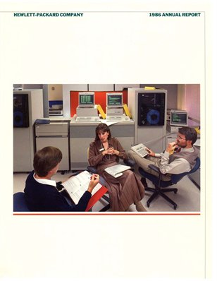HP Annual Report 1986