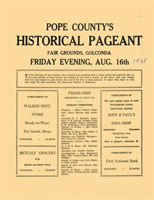 1935 POPE COUNTY HISTORICAL PAGEANT