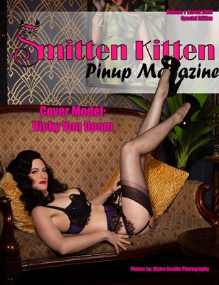 Smitten Kitten Pinup Magazine Cover 2 Vicky Von Doom March 2020 Special Edition
