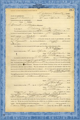 1923 State of Kentucky vs. C.E. Pittman, Graves County, Kentucky