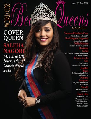 World Class Beauty Queens Magazine Issue 103 with Saleha Nagori