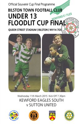 Bilston Town FC Under 13 Floodlit Cup Final 2014/2015