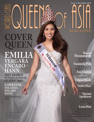 World Class Queens of Asia Magazine Issue 3 with Emilia Vergara Encabo - Hann