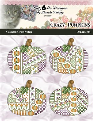 Crazy Pumpkins Ornaments Counted Cross Stitch Pattern