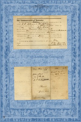 1870 John Davis vs. J.T. Bolinger & Geo. Bolinger, Graves County, Kentucky