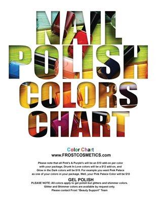 Nail Color Chart
