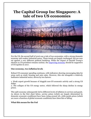 The Capital Group Inc Singapore: A tale of two US economies