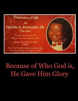 Frank H Rodgers, SR.