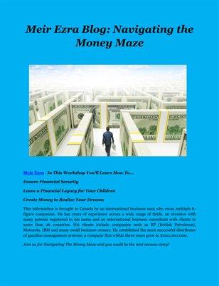 Meir Ezra Blog: Navigating the Money Maze