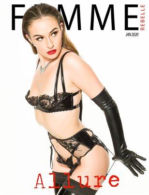 Femme Rebelle Magazine JANUARY 2020 - ALLURE ISSUE - RetroPhotoStudio Cover