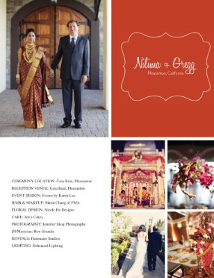 Nilima + Gregg Vendor Magazine