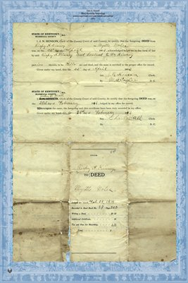 1914 Deed, Kinney to Noles, Marshall County, Kentucky