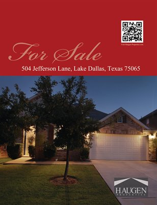 Haugen Properties -  504 Jefferson Lane, Lake Dallas, Texas 75065