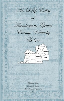 Dr. L.G. Colley's Pocket Ledgers, Farmington, Graves County, Kentucky