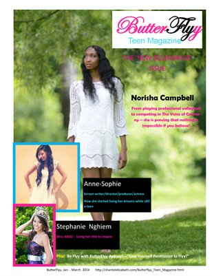ButterFlyy Teen Magazine - Jan. - March 2014