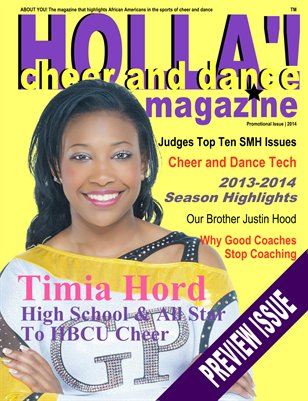 HOLLA'! Cheer & Dance Magazine - PROMOTIONAL ISSUE