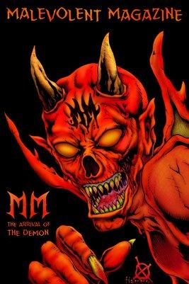 Malevolent Magazine DEMON Poster