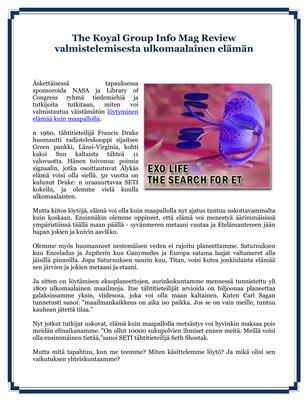 The Koyal Group Info Mag Review valmistelemisesta ulkomaalainen elämän