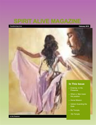Spirit Alive Magazine -February 2015