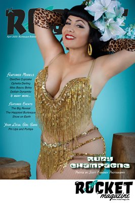 April 2020: Burlesque Babes Ruby Champagne POSTER