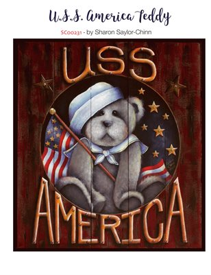 USS America Teddy Bear Painting Pattern - Sharon Chinn SC00231