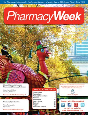 Pharmacy Week, Volume XXIII - Issue 41 & 42 - November 16 - December 5, 2014