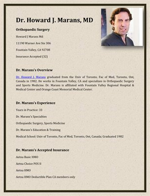 Dr. Howard J. Marans, MD